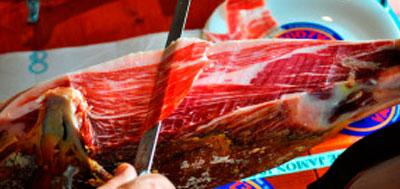 Cómo se corta a cuchillo un jamón ibérico?