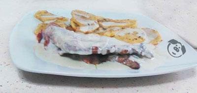 Receta: Presa ibérica con jamón de cebo y salsa 4 quesos